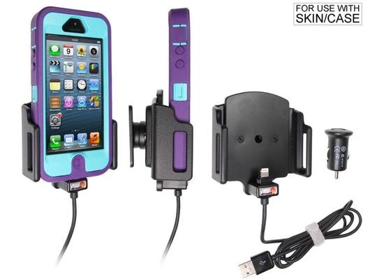 brodit apple iphone 5 kfz autohalterung mit usb. Black Bedroom Furniture Sets. Home Design Ideas