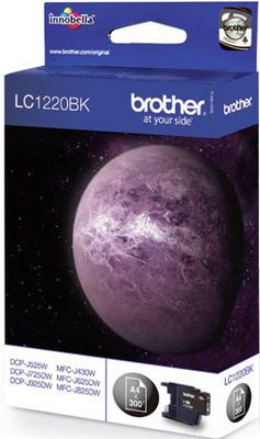 Brother Tintenpatrone LC-1220BK Schwarz (ca. 300 Seiten)