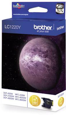 Brother Tintenpatrone LC-1220Y Gelb (ca. 300 Seiten)