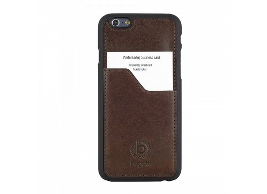 Bugatti ClipOnCover Leather für iPhone 6 Plus, braun
