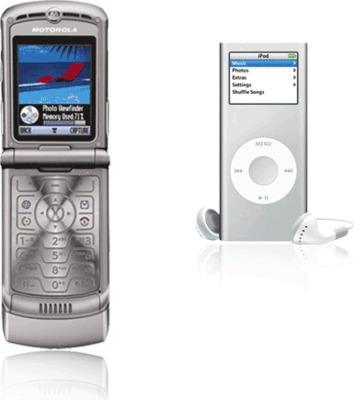 Motorola RAZR V3 + iPod nano 2GB