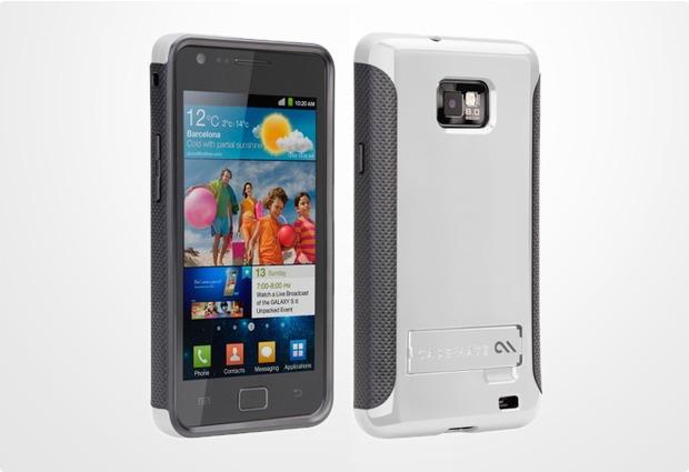 case-mate Pop! für Samsung i9100 Galaxy S2, weiß-grau