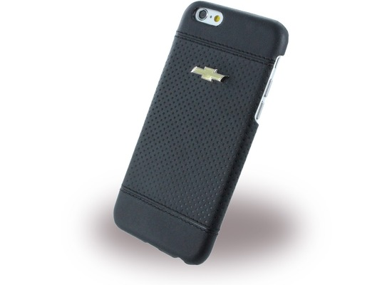 chevrolet Debossed Dots, Leder Hard Cover für Apple iPhone 6 Plus/6s Plus, schwarz