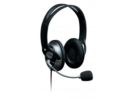 connect IT Headset connect IT PC Schwarz/Silber w/Mic