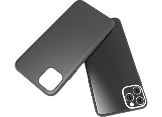 Cyoo Premium Liquid Silicon Hard Cover - iPhone 11 Pro  - Schwarz