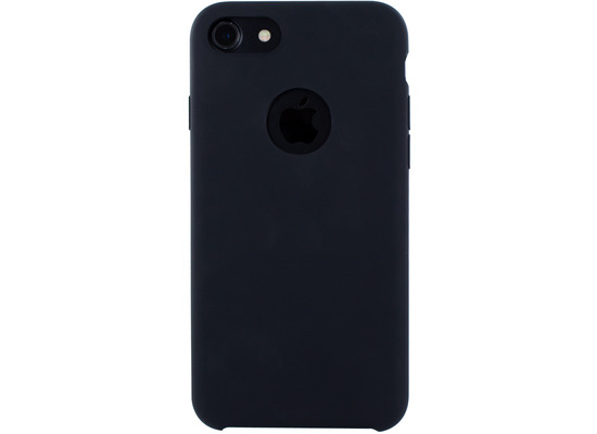 Cyoo Premium Liquid Silicon Hard Cover für iPhone 7 / 8, Schwarz