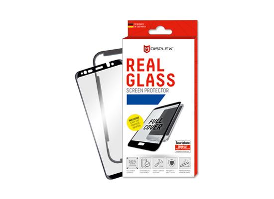 Displex Displex, Real Glass 3D Max 0,33mm + Rahmen,Samsung G965F Galaxy S9 Plus, Displayschutzglasfolie, schwarz
