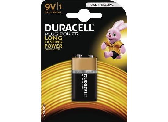 Duracell Battery Alkaline 9V 1er Duracell Plus Power