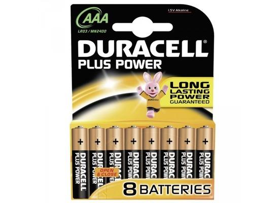 Duracell Battery Alkaline AAA 8er Plus Power
