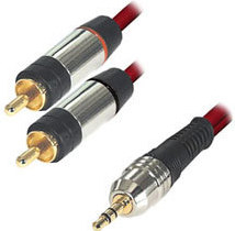 Equip Audiokabel 3,5mm-Klinkestecker auf 2xCinch-Stecker 5meter
