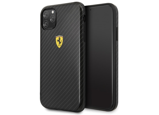 Ferrari On Track - Apple iPhone 11 Pro Max - Schwarz - Carbon Effect - Hard Cover - Case - Schutzhülle