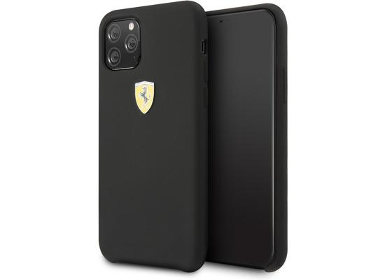 Ferrari On Track SF Silikon Case W Logo Shield - Apple iPhone 11 Pro - Schwarz Schutzhülle Hülle Handyhülle