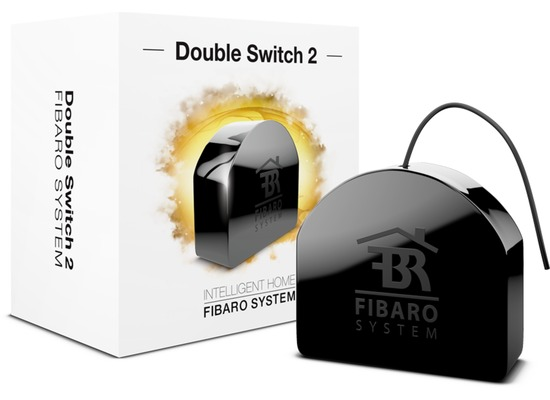 Fibaro Relais Unterputzeinsatz - 2 Schalter a 1.5kW - Z-Wave