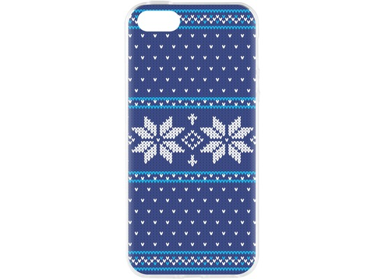 Flavr Cardcase Ugly Xmas Sweater for iPhone 5/5S/SE blau