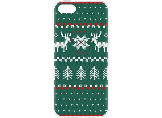 Flavr Cardcase Ugly Xmas Sweater for iPhone 5/5S/SE grün