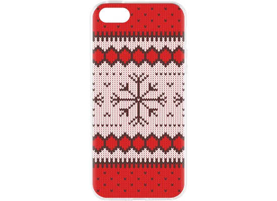 Flavr Cardcase Ugly Xmas Sweater for iPhone 5/5S/SE rot
