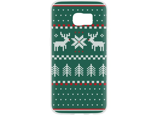 Flavr Case Ugly Xmas Sweater for Galaxy S7 Edge grün