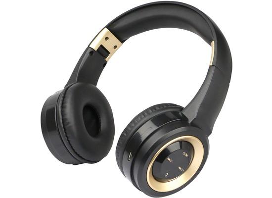 Fontastic Bluetooth On-Ear Headphone BOOM, schwarz/ gold
