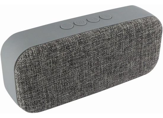 Fontastic Essential Essential Drahtloser Stereo Lautsprecher grau mit integrierter Freisprecheinrichtung, AUX