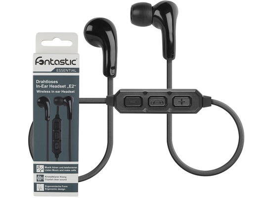 Fontastic Essential Drahtloses In-Ear Headset E2 schwarz
