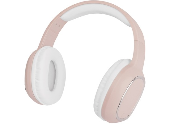 Fontastic Essential Essential Drahtloses On-Ear Headphone SPLEND rosa BT High Quality Speaker, One-Button Control