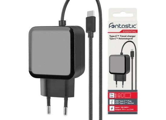 Fontastic Essential Essential Netzteil Typ-C 2.4A schwarz 1.2 m