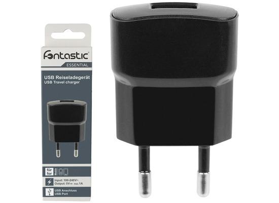 Fontastic Essential Netzteil USB 1A schwarz