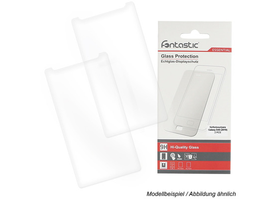 Fontastic Essential Schutzglas 2 Stück komp. mit Samsung Galaxy A40