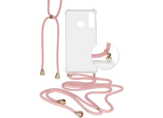 Fontastic Hybridcover Thea transparent mit Kordel pink komp. mit Huawei P30 Lite