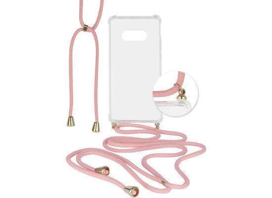 Fontastic Hybridcover Thea transparent mit Kordel pink komp. mit Samsung Galaxy S10e
