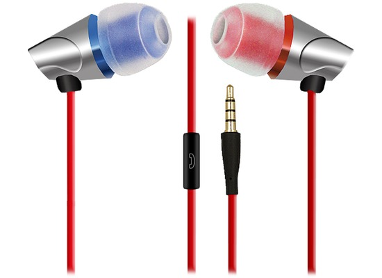 Fontastic in-Ear Stereo Headset S-420 3.5mm rot inklusive Nokia Adapter Kabel