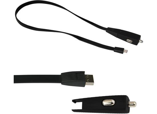 Fontastic Kfz-Ladeadapter Nova USB 1A schwarz inklusive Micro-USB Datenkabel 0.80m