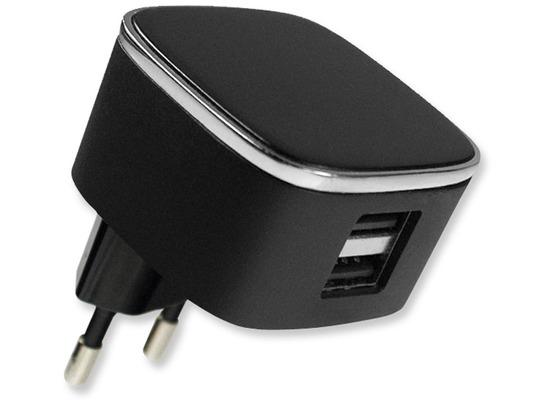 Fontastic Netzteil Smart Twin-USB 3.1A schwarz mit integriertem Smart IC