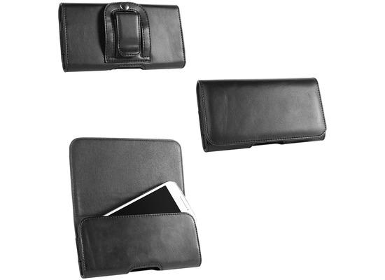 Fontastic PU Tasche Clip XL schwarz 137x71x10mm