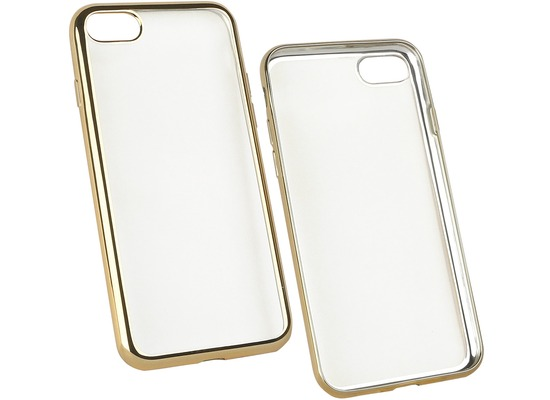 Fontastic Softcover Clear Metallic Ultrathin Gold für Apple iPhone 7 / 8