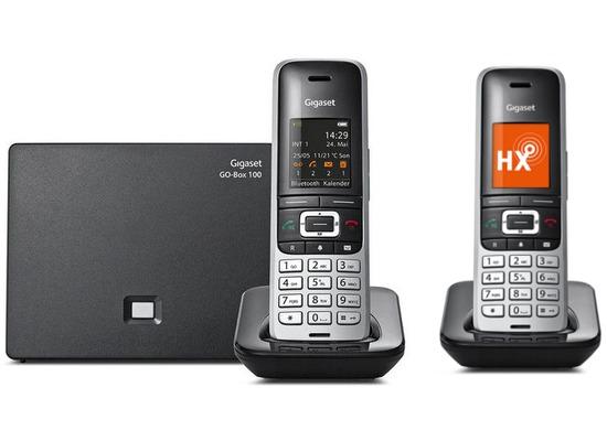 Gigaset S850A GO Duo, platin / schwarz