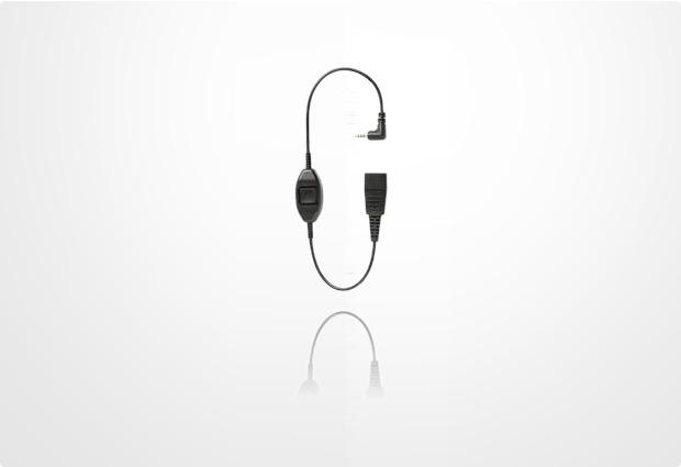 Jabra Kabelunterteil mit QD auf 2,5mm Klinke mit PTT für Nokia 4-polig