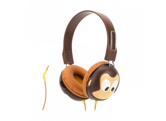 Griffin KaZoo MyPhones Kopfhörer Affen-Design braun GC40290