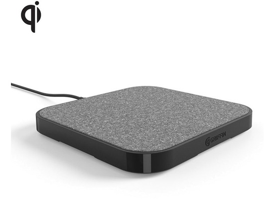 Griffin PowerBlock Wireless Charging Pad 15W  Qi  grau/schwarz
