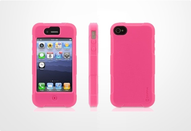 Griffin Protector f�r iPhone 4 / 4S, pink