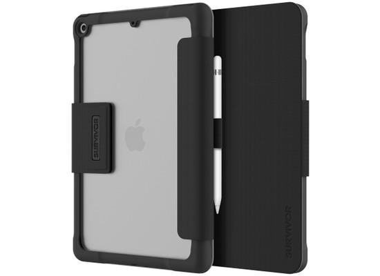 Griffin Survivor Tactical Folio Case, Apple iPad 10,2 (2019), schwarz/transparent, GIPD-018-BLK