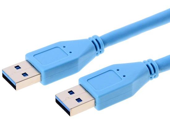 Helos USB 3.0 Kabel Stecker A auf Stecker A, 1,0 m