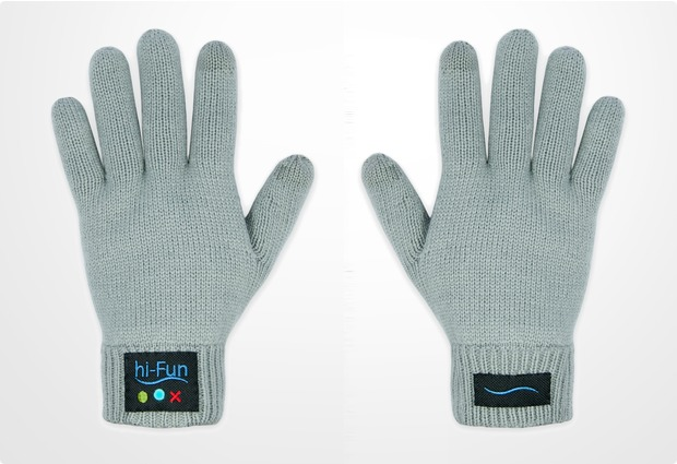 hi-Fun Bluetooth Handschuhe Hi-Call (Man), grau