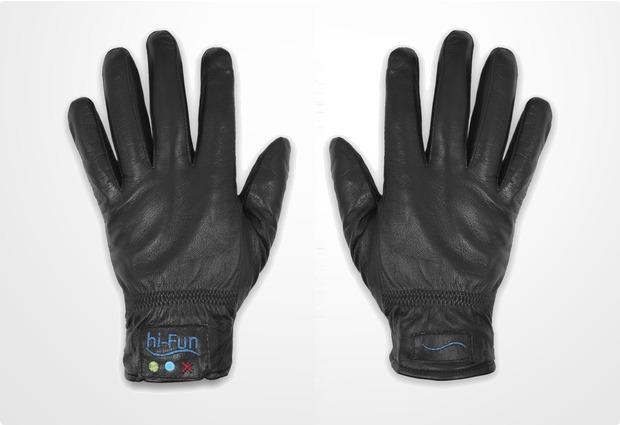 hi-Fun Bluetooth Leder-Handschuhe Hi-Call M, schwarz