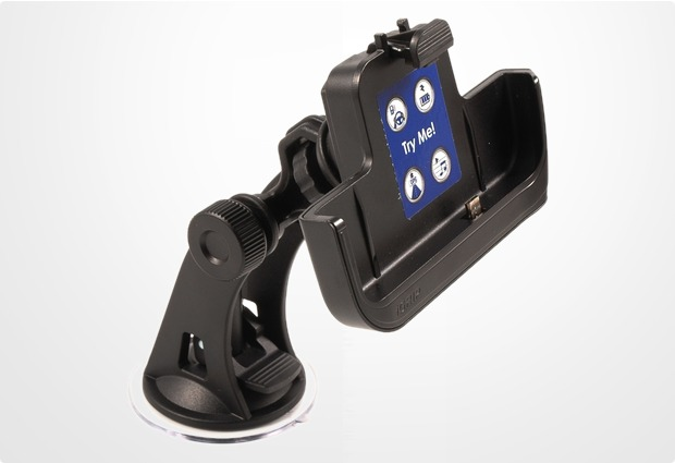 HR Auto-Comfort iGRIP Halter für Blackberry Torch 9800 inkl. Haftsauger-System Global Dual Support 1