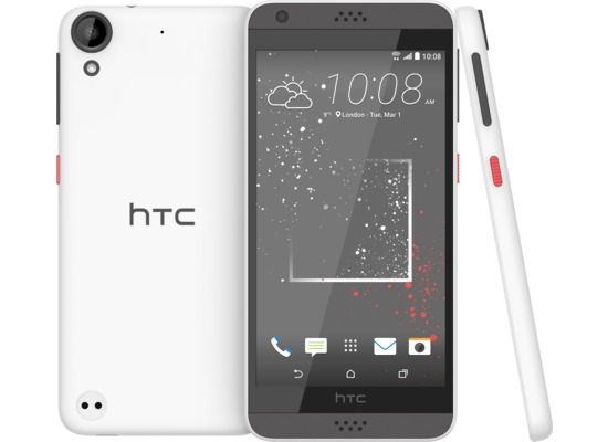 HTC Desire 530, solid stratus white