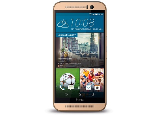 HTC One M9, gold