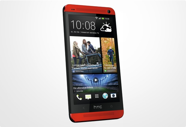 HTC One (M7), glamour red
