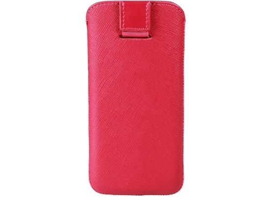 iCandy Echtledertasche für iPhone 5/5S/SE, rot