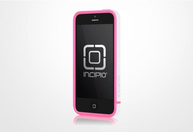 Incipio EDGE Pro für iPhone 5/5S/SE, weiß-pink